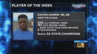 Sportsline Player of the Week: West Feliciana RB Davon Harris