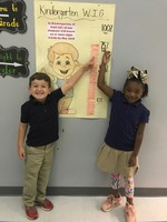 Bains Lower kindergarteners meet sight word goal