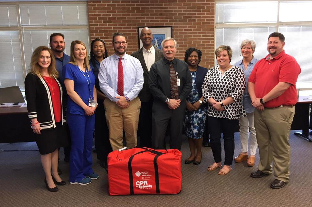 West Feliciana Hospital and American Heart Association donate CPR training kit to Bains Elementary School