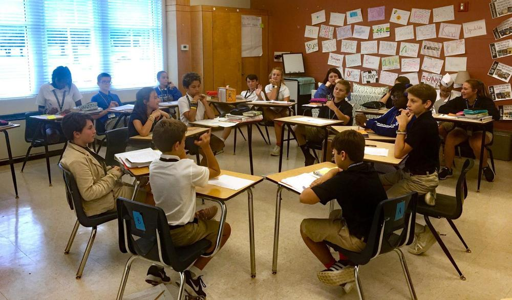 West Feliciana Middle School students practice public speaking skills
