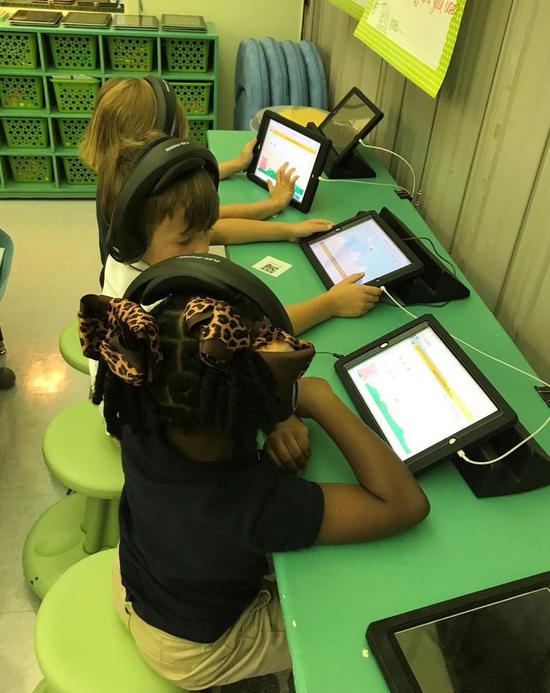 Bains Lower students use technology to learn
