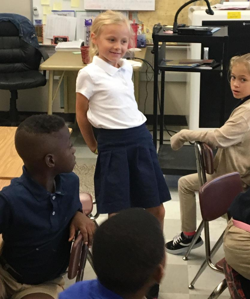 Bains Elementary students lead discussions