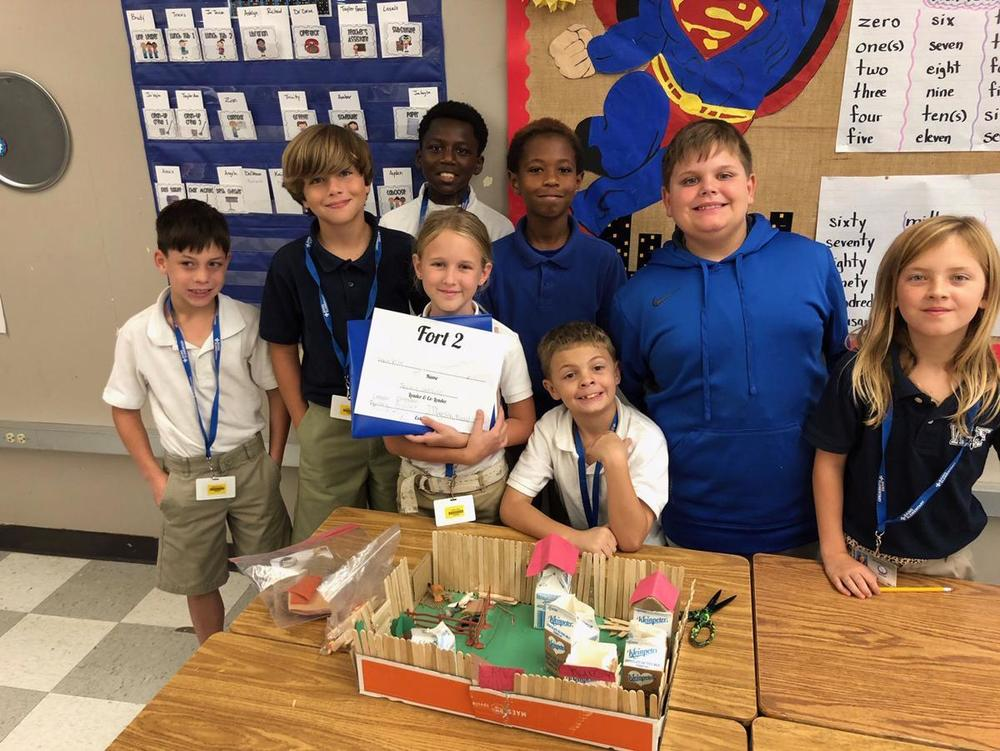 Bains fourth graders build forts