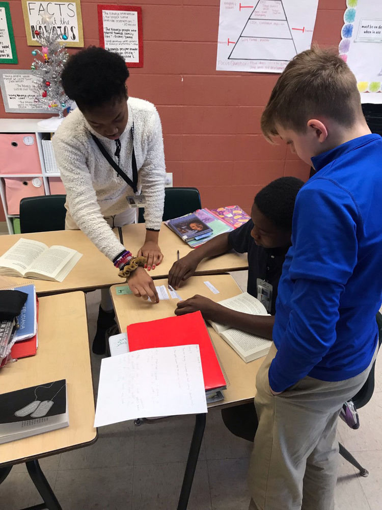West Feliciana Middle School students use fun game to learn about a novel