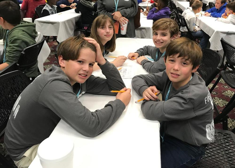 Bains Elementary School sends delegation to Junior Beta Club convention in Lafayette