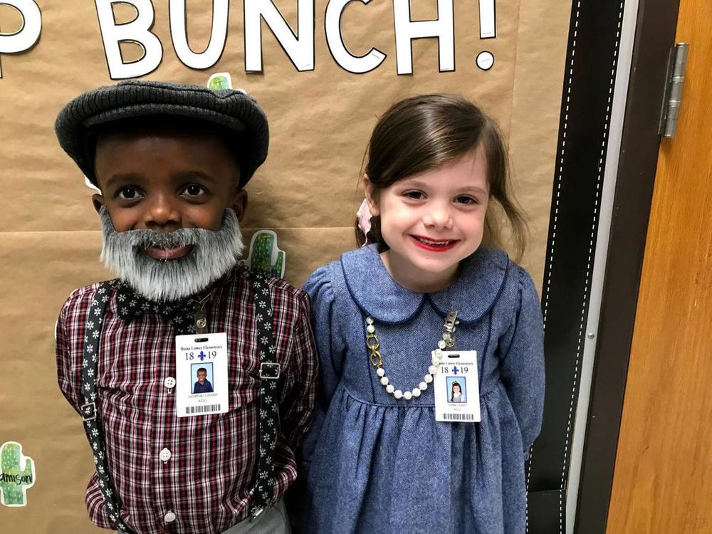 Bains Lower Elementary School students mark 100th day of school