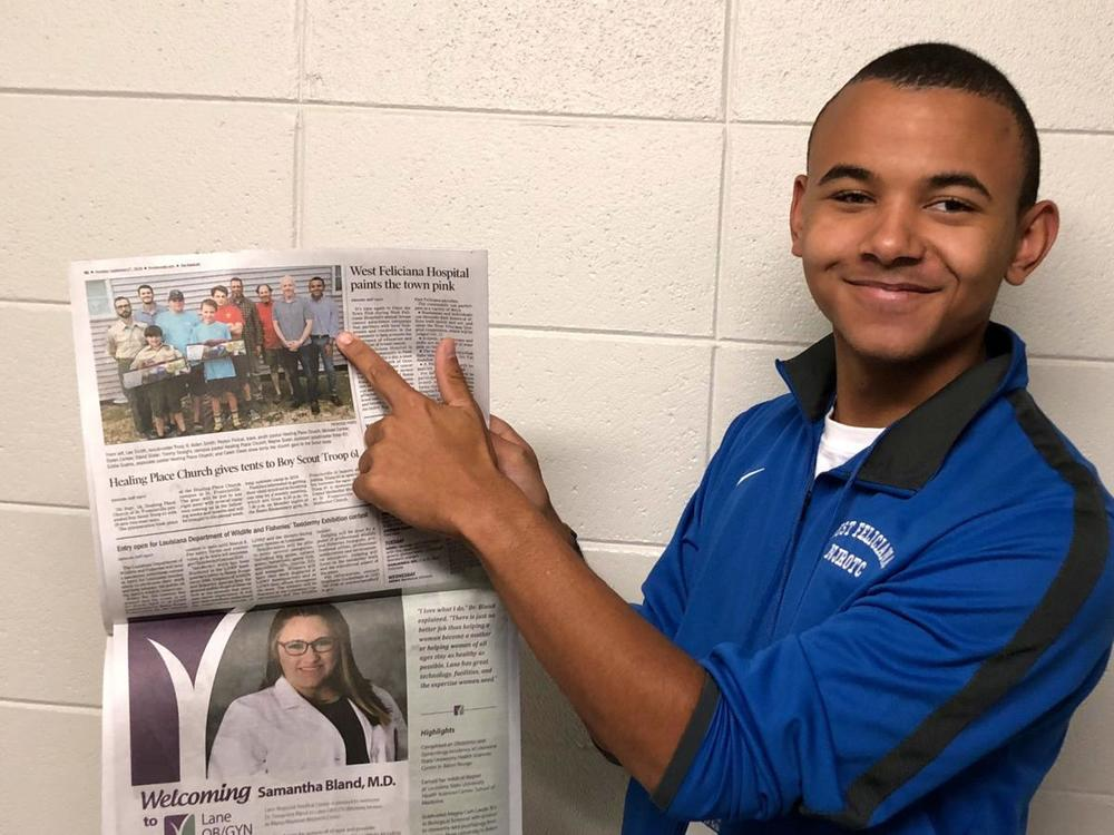 West Feliciana Parish public school students see their activities shared in print