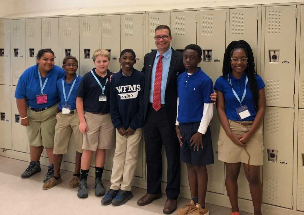 West Feliciana superintendent leads class of middle schoolers