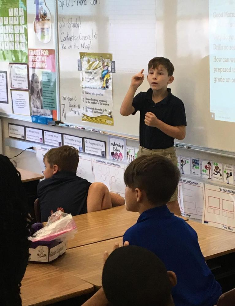 Leadership stressed at Bains Elementary
