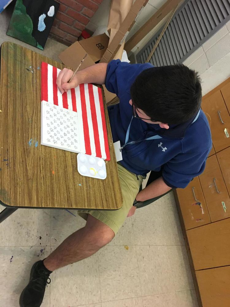 West Feliciana Middle School student's flag painting earns notice
