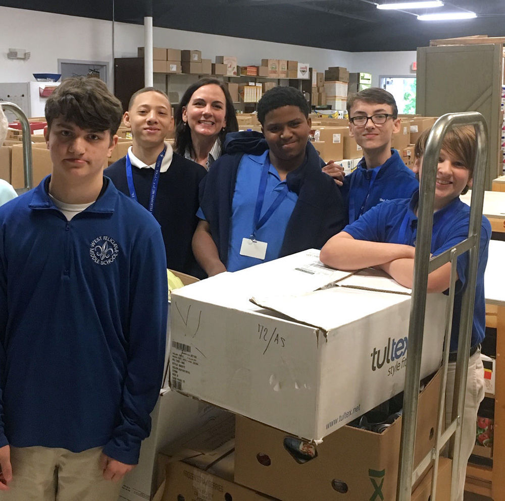 WFMS Students Hold Food Bank Donation Drive