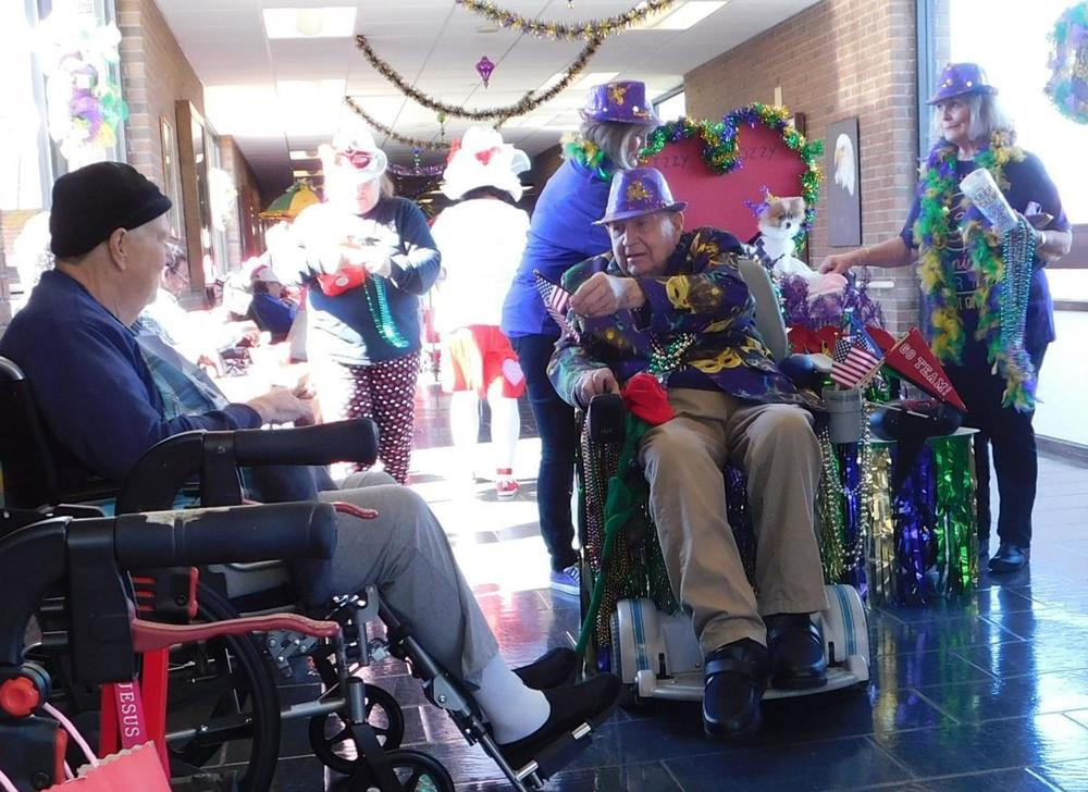Jackson Veterans Home combines Mardi Gras with Valentine's in special event on Feb. 14