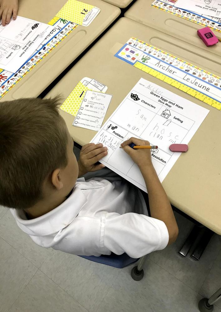 Bains Lower Elementary School students use checklists to work independently