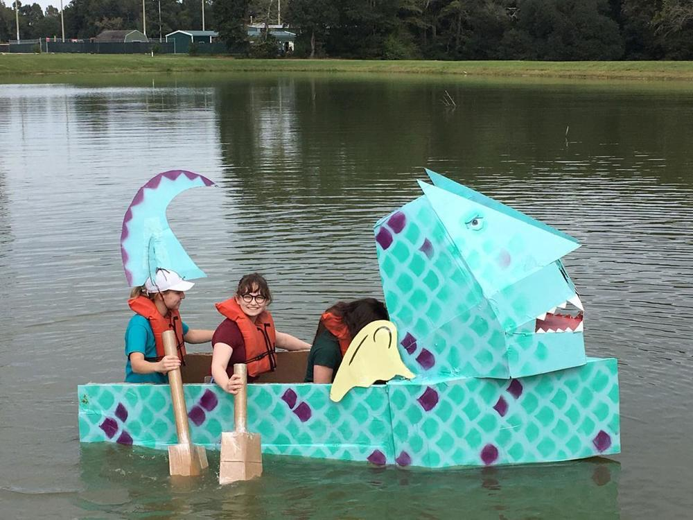 West Feliciana High School physics students test design skills in boat challenge
