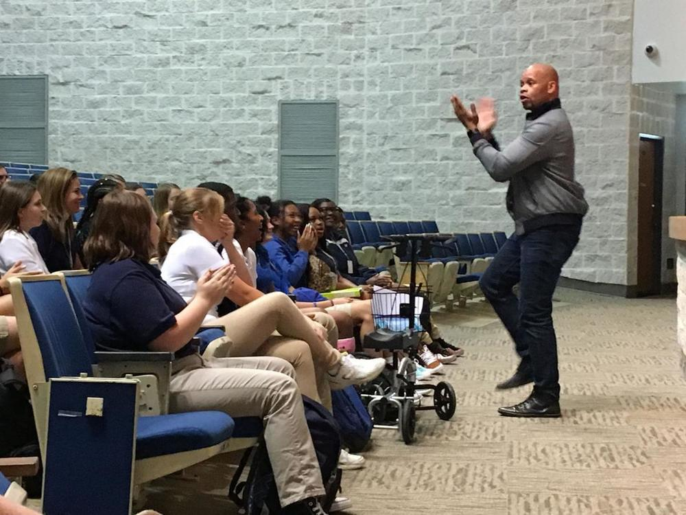 Speaker inspires West Feliciana students