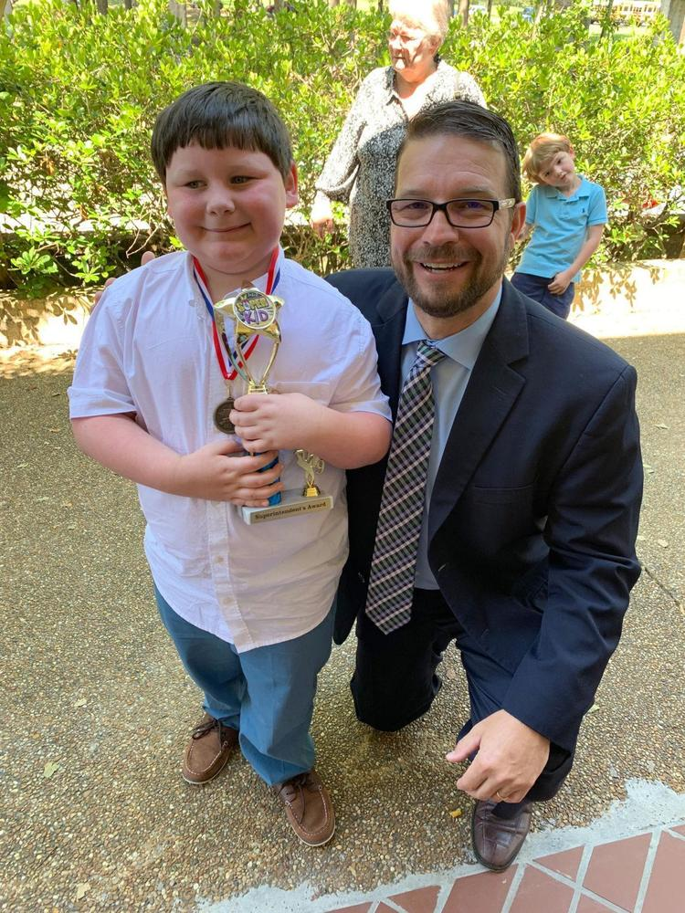 Bains Lower Elementary School first grader gets Superintendent's Award