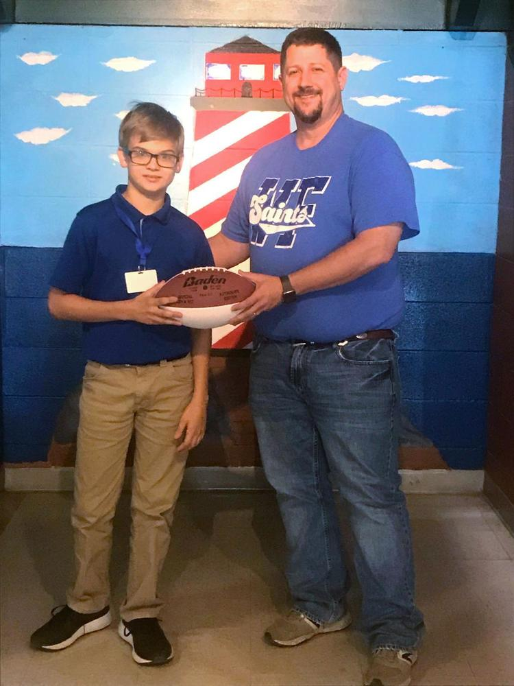West Feliciana Middle School students rewarded for meeting reading goals
