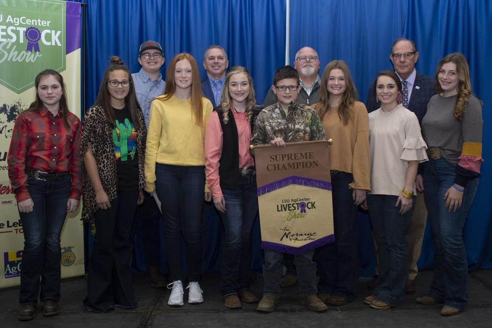 Area young people named champions at the 85th annual LSU AgCenter Livestock Show