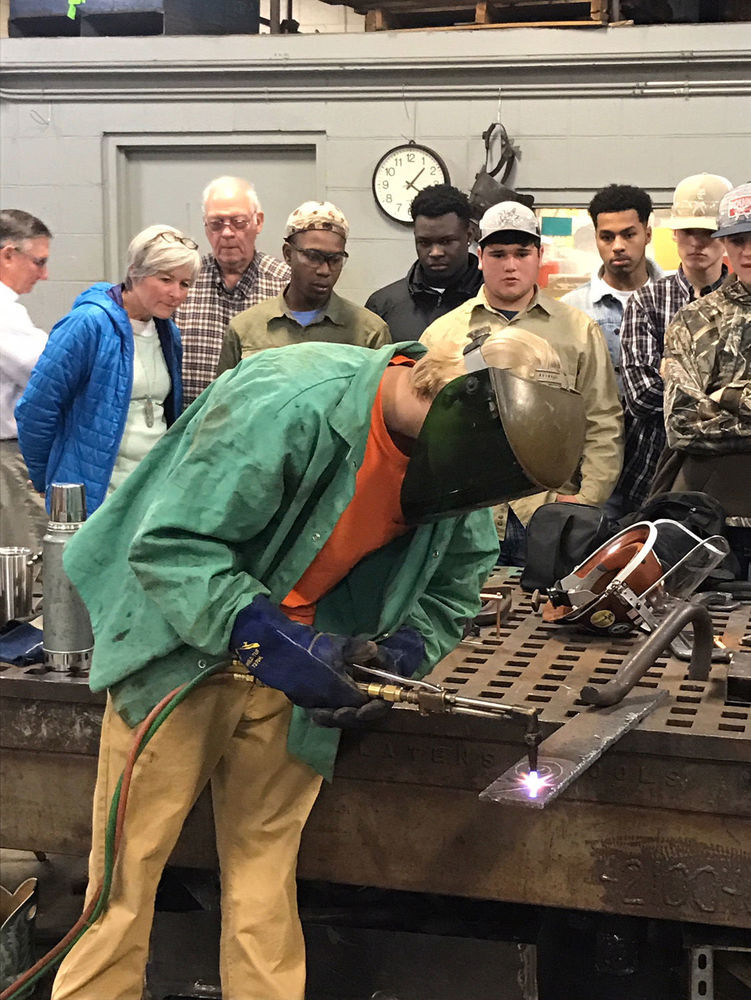 West Feliciana High students learn welding techniques thanks to partnership with community college