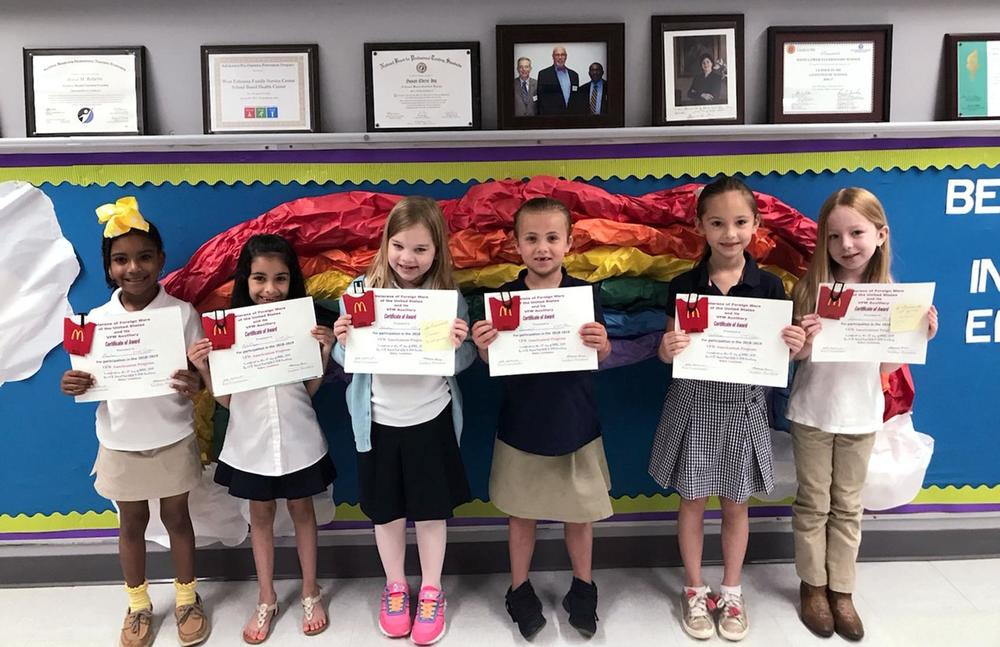 VFW Auxiliary chooses winners of flag coloring contest