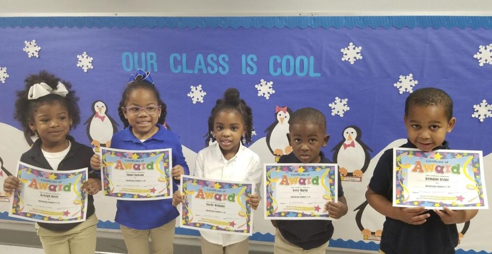 West Feliciana Head Start students recognized for knowing numbers