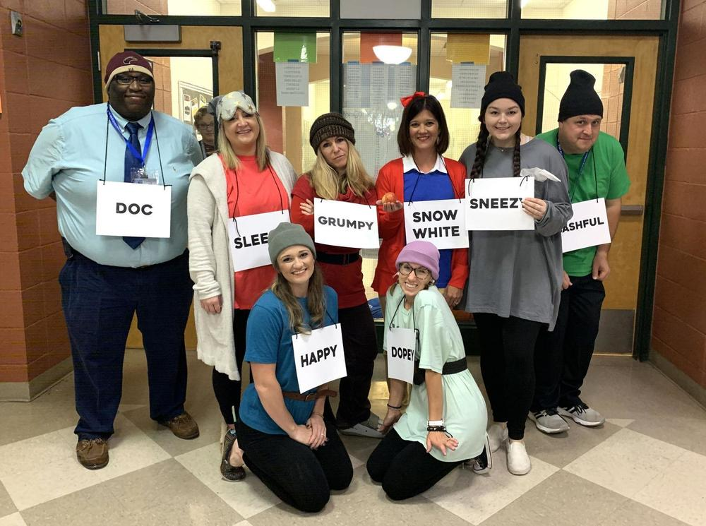 West Feliciana Middle School teachers portray a Disney fantasy for homecoming week