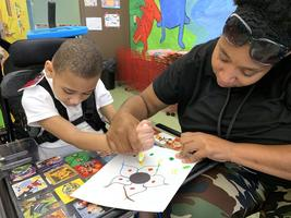 Bains Lower Elementary School students exercise creativity