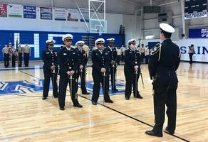West Feliciana High School NJROTC cadets undergo inspection