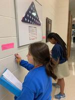 Gallery walk serves as science class review exercise