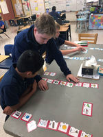WFMS students take part in vocabulary lesson