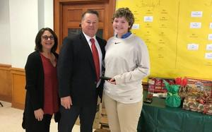 West Feliciana High SADD Club president honored at Drug and Alcohol Awareness Council Christmas Luncheon