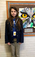 Bains Elementary School art students display mixed-media collages Advocate staff report
