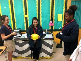 West Feliciana Middle School students learn about Newton's