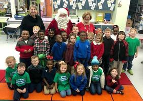 Bains Lower Elementary students get visit from Santa