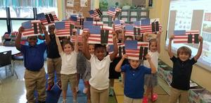 Bains Lower kindergartners learned about 9/11