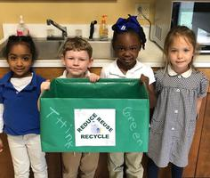 Bains Lower Elementary School prekindergartners help improve their environment