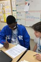 West Feliciana Middle School students play tic-tac-toe with a twist