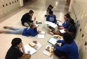 West Feliciana Middle School English students collaborate on project