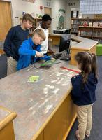 Bains Elementary School students find leadership opportunities in the library