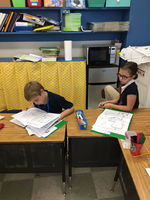 Bains Elementary School students learn to work with maps