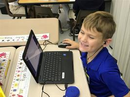 Laptops making learning fun at Bains Lower