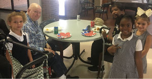 Bains Lower students visit War Veterans Home in Jackson