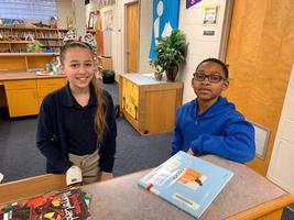Bains Elementary School learn leadership skills through library service