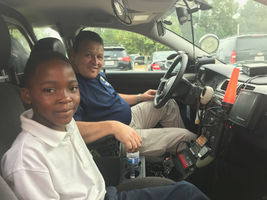 Deputy talks to fourth-grader about becoming a police officer