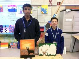 West Feliciana Middle School art students create wildlife paintings