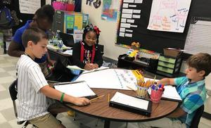Bains Elementary students take learning seriously, even during homecoming week