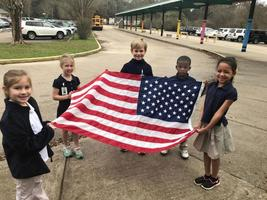 Bains Lower Elementary School students help get day started right