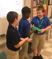 Bains Elementary School English students learn the difference between literal and figurative language