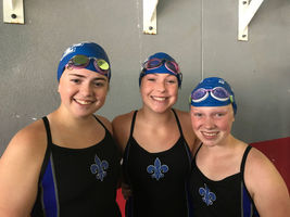 West Feliciana High seniors swim in recent meet