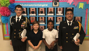 West Feliciana High School JROTC leaders visit Bains students